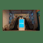 Totem intérieur – Ecran LED 55 pouces - BORNE-INTERIEUR